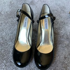 """Steve Madden 9 Mary Jane 3"""" heels patent leather"""